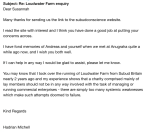 Letter of support from Loudwater Farm, received 4th October 2014