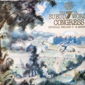 Programme from Subud 7th World Congress Held in the grounds of the Subud International Centre at Anugraha