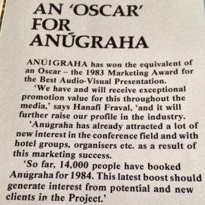 Anugraha wins marketing award