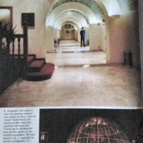 Interior and exterior of Anugraha