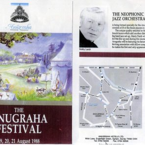 Music Festival at Anugraha - front of programme