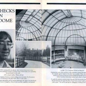 Anugraha's dome, which was featured on the 'Tomorrow's World' TV programme - article published in 'Subud World' Publication - March 1984