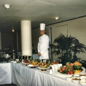 Chef showing catering capabiliies at Anugraha