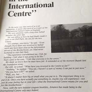 Great expectation - article about fund-raising for the Subud International Centre