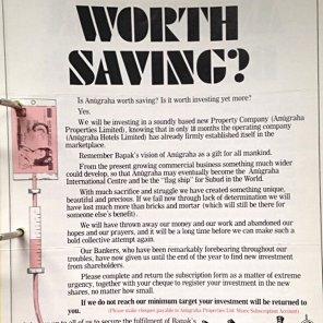 Is Anugraha Worth Saving?