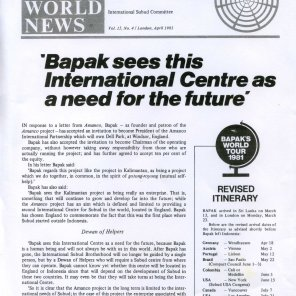 Article from Subud World News about the need for the International Centre - dated April 1981
