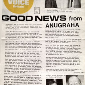 Published Anugraha News in the Subud Voice