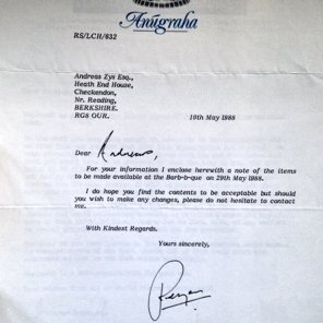 Example of a Letter sent to Subud Members concerning events and BBQs
